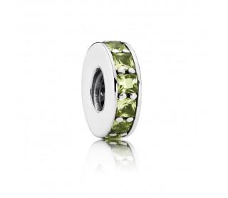 Charm separador Eternity verde oliva
