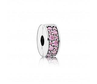 Clip Elegancia rosa brillante