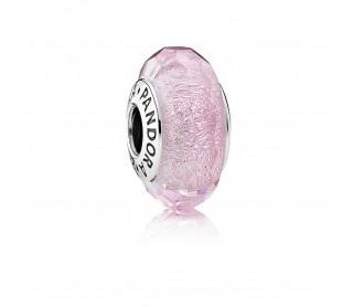 Charm cristal de murano rosa brillante.