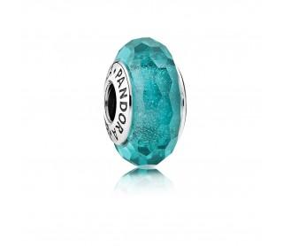Charm Cristal brillante verde-azulado