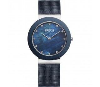 Reloj bering Ceramica azul.