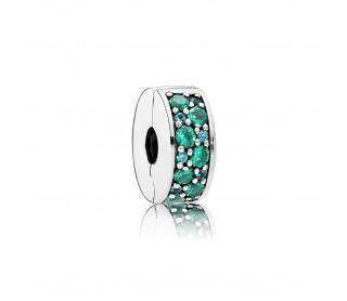 Clip Brillante Mosaico Verde Azulado