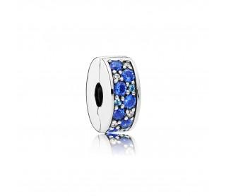 Clip Brillante Mosaico Azul