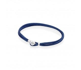 Pulsera Moments en cordón azul para charms