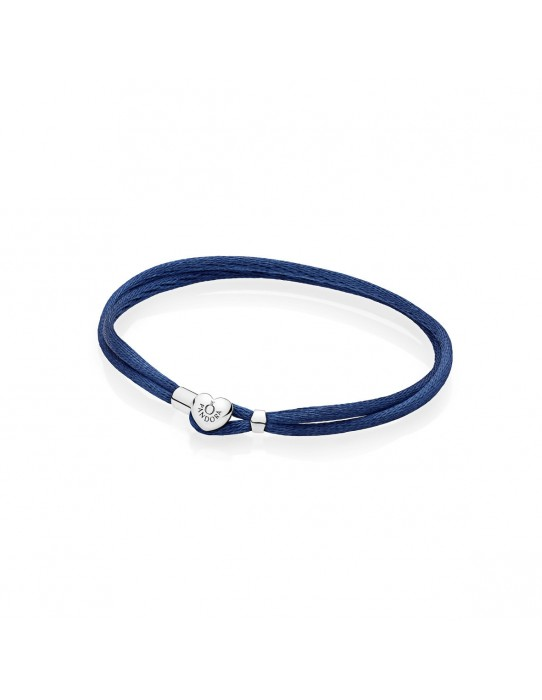 Pulsera Moments en cordón azul para charms