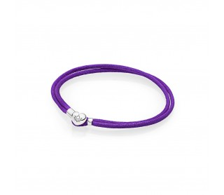 Pulsera Moments en cordón morado para charms