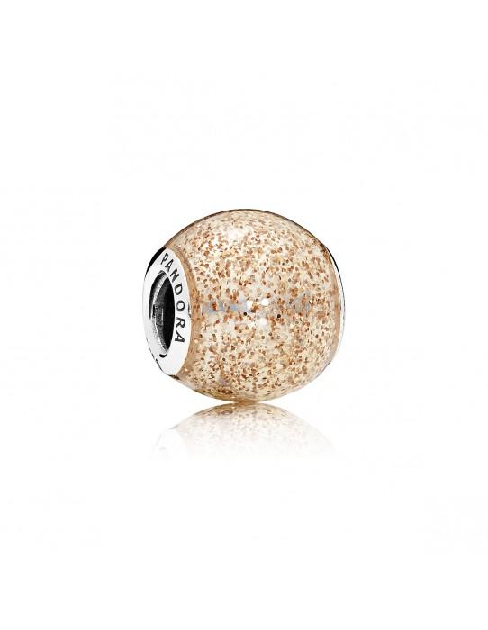 Charm Esfera de Oro Rosa Brillante