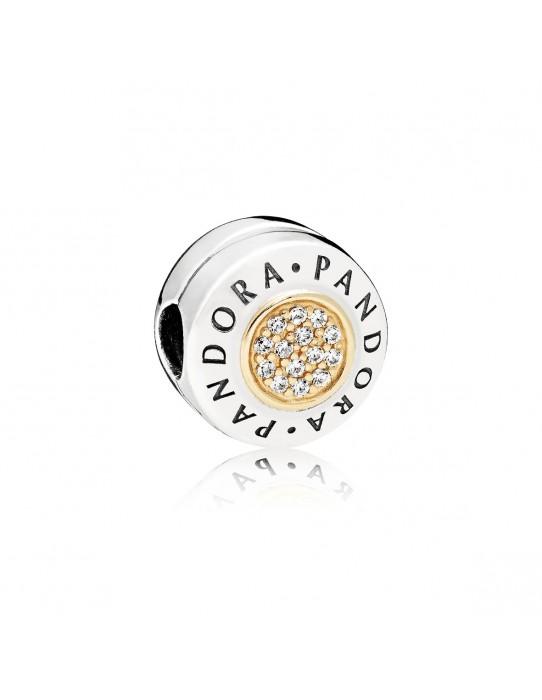Clip Logo PANDORA plata y oro