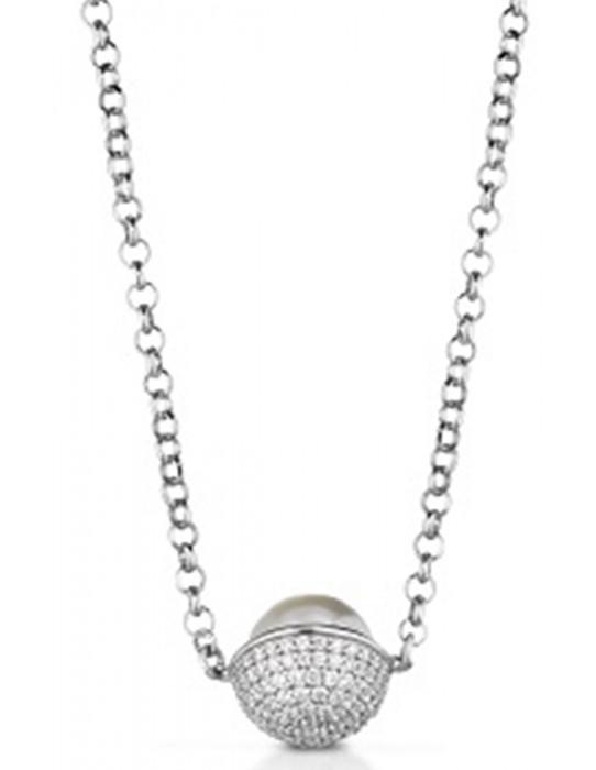 Collar Perla con Swarovski  PA100