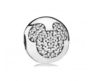 Clip en plata de ley Mickey en Pavé