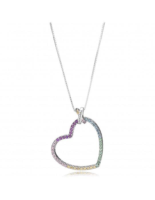 Collar Corazón Multicolor