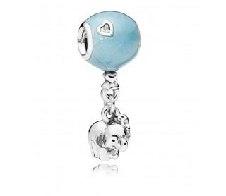 Charm Elefante y Globo Azul 797239EN169