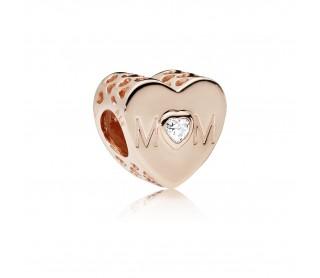 Charm Rosa Corazón de Madre 781881CZ