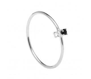Anillo Carbon Silver AN02-106