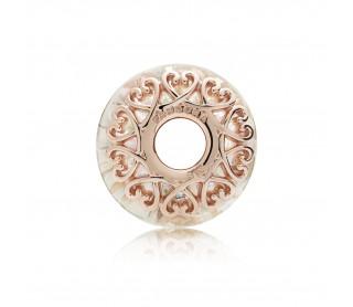 Charm Rose Cristal blanco Iridiscente 787576