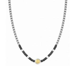 Collar Voyage Hematites y Acero Ancla 022512 002