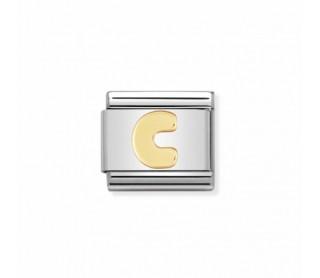 Link Classic Letra C acero/oro 030101 03