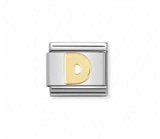 Link Classic Letra D acero/oro 030101 04
