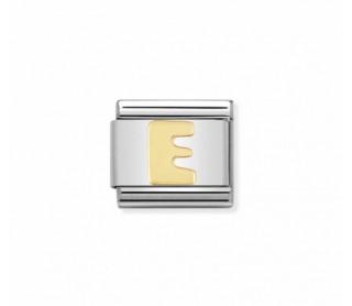 Link Classic Composable Nomination, Letra E acero/oro 030101 05
