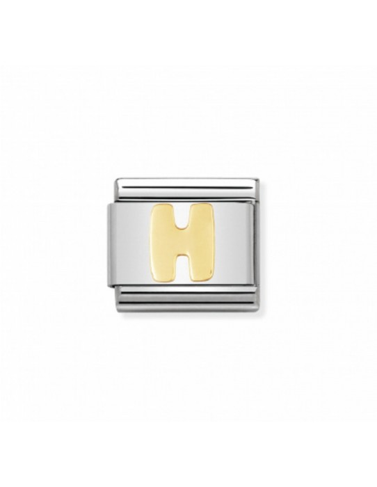 Link Classic Letra H acero/oro 030101 08