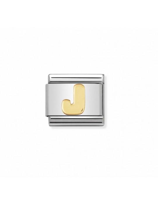 Link Classic Letra J acero/oro 030101 10