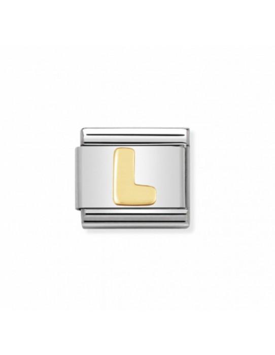 Link Classic Letra L acero/oro 030101 12
