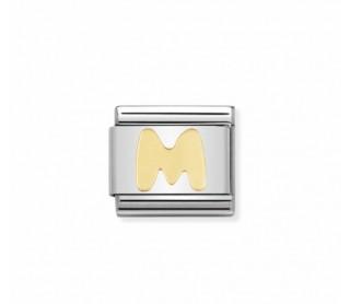 Link Classic  Letra M acero/oro 030101 13