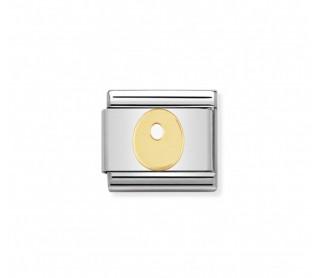 Link Classic Letra O acero/oro 030101 15