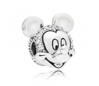 Charm Retrato Brillante de Mickey 797495CZ