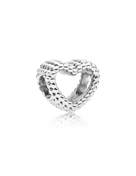 Charm Corazón Moldeado plata 797516