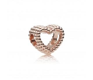 Charm Corazón Moldeado Rosa 787516