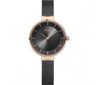 Reloj Bering Solar Negro y Rosa 14631-166