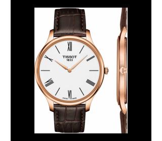 Reloj Tissot Tradition Ip Rosa Piel Marrón T0634093601800