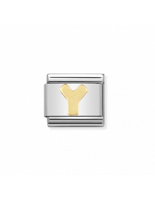 Link Classic Composable Nomination, Letra Y acero/oro 030101 25
