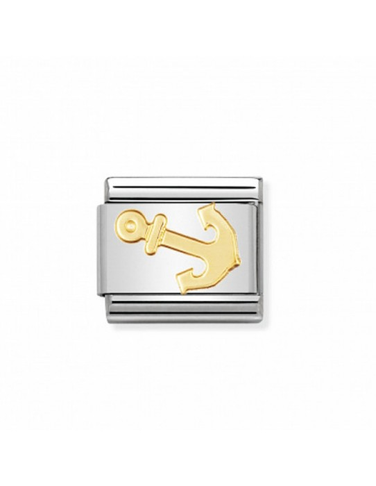 Link Nomination Colección Deportes Ancla Acero y Oro 030106 15