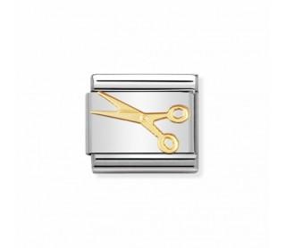 Link Nomination Colección vida cotidiana Tijeras Pequñas acero y Oro 030109 03