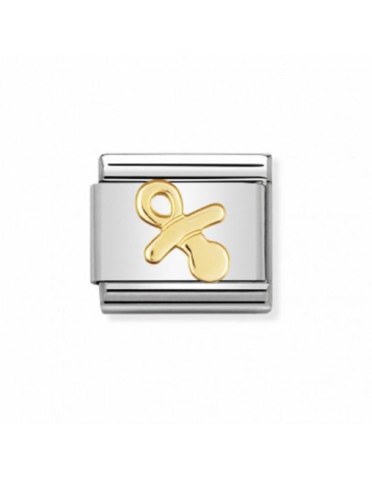 Link Nomination Colección vida diaria Chupete Acero y Oro 030109 07