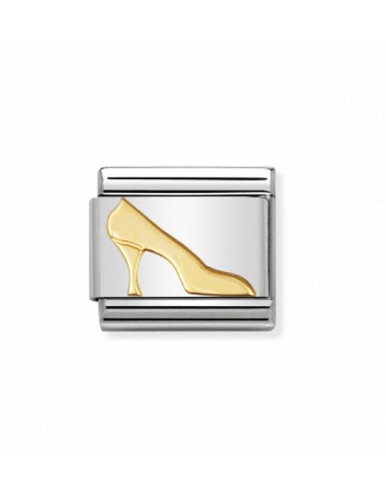 Link Zapato Tacon Acero y Oro 030109 08