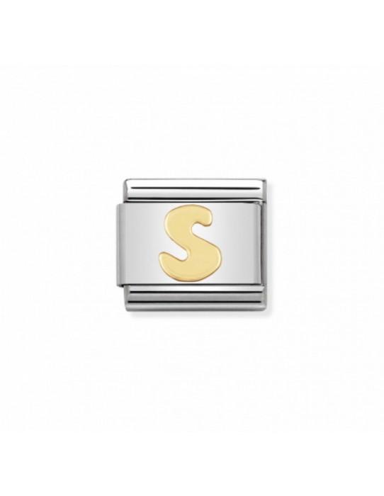 Link Classic Letra S acero/oro 030101 19
