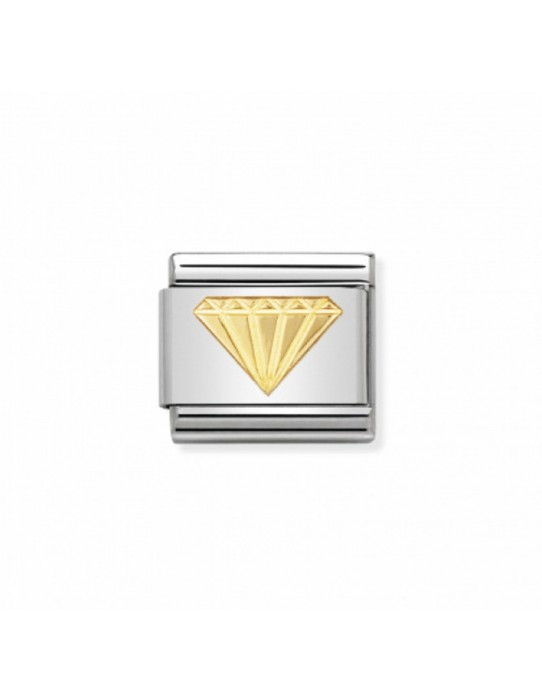 Link Diamante en Acero y Oro 030115 03