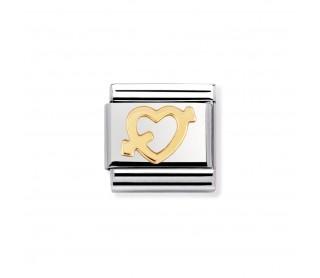 Link  Acero y Oro Corazón Flechado 030116 09