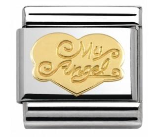 Link Acero y Oro Mi Ángel con Corazón 030116 21