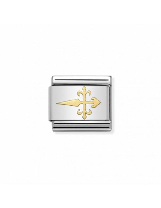 Link Acero y Oro Cruz de Santiago 030145 13