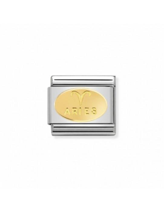 Link Acero y Oro Zodiaco Aries 030165 01