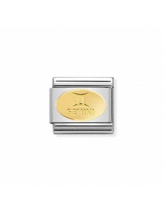 Link Acero y Oro Simbolo Geminis 030165 03