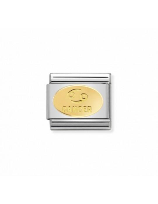 Link Acero y Oro Simbolo Cancer 030165 04