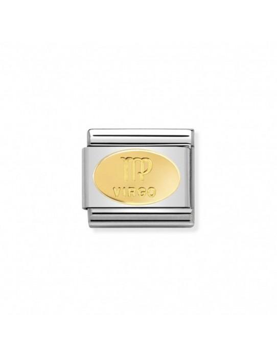 Link Acero y Oro Simbolo Virgo 030165 06