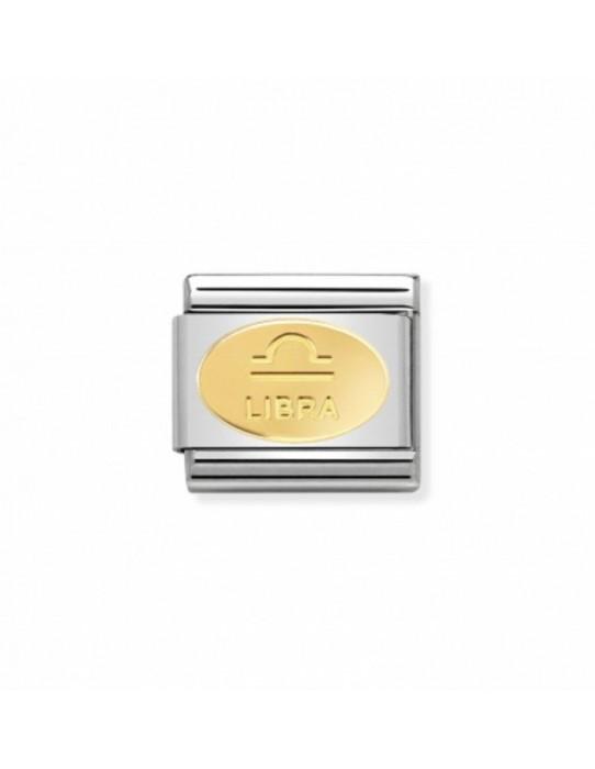 Link Acero y Oro Simbolo Libra 030165 07