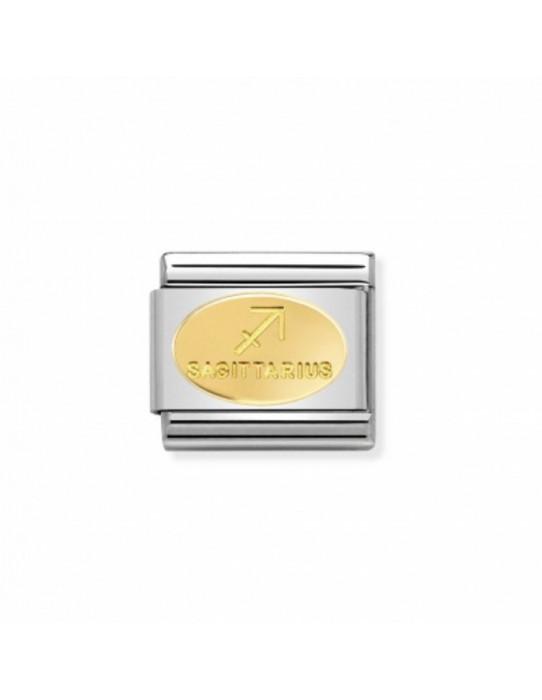 Link Acero y Oro Simbolo Sagitario 030165 09