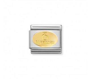 Link Acero y Oro Simbolo Capricornio 030165 10